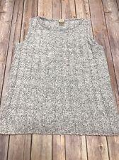 J. Jill Sleeveless Chunky Knit Sweater Top Loose Marled Cotton Blend EUC Small