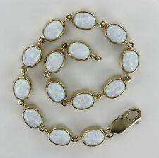Markenlose Armbänder mit Edelsteinen Sets aus Gelbgold