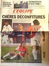 L'Equipe Journal 8/1/2003; Schlesser/ Rigaudeau à Dallas/ Simone, Gallardo, Edmi