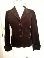 ANN TAYLOR LOFT Black Corduroy Jacket -4P NWT $69.50 3 Button Hip Length Belted