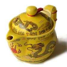 Chinese Porcelain 350ml Teapot Stainless Filter Infuser Dragon Flower Tea Pot