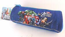 MARVEL AVENGERS ASSEMBLE CANVAS PENCIL CASE SCHOOL OR OFFICE IRON MAN, HULK