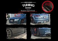 Bodykit Frontspoiler Diffusor Schweller ABS für Audi TTS 8J ABE Schwarz Glanz