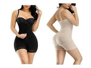 Zipper Detachable Straps Women's Full Body Shape Wear Body Suit