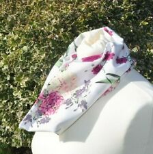 Cowl/Snood in cotton flowers pink purple yellow green white