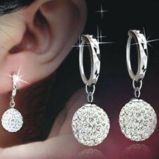 Womens Earrings Multi Gem Crystal Huggie Hoop Round Drop Dangle Studs Jewellery