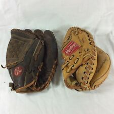 "2 Rawlings Baseball Mitt Catchers RCM 45 & RBG36 12.5"" Right Hand Throw Griffey"