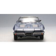1963 Chevrolet Corvette Sting Ray Convertible Silver Blue 1:18 1 of 6000 Autoart