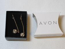 Ladies Womens Avon Sparkle Linear Earrings Goldtone F3360031 NIP;;