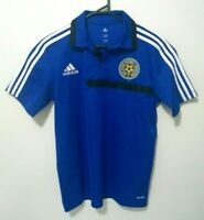 Adidas Mens Shirt Size M East Asian Football Climalite Blue Polo Collared