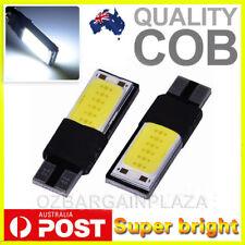 2 x T10 COB LED White W5W Car Light Parker Wedge Side Bulb Lamp DC 12V