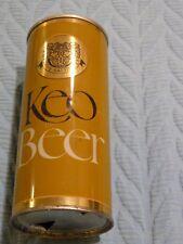 Tan/Gold/Black Keo Beer Can Pull Tab Bottom Open 15.5 oz empty Steel Cyprus#2