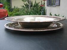 Vtg 2 piece WM Rogers Serving bowl #835 and plate #170