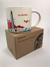 Starbucks You Are Here Series ALABAMA 14oz Ceramic Mug New In Box with SKU
