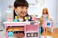 Barbie y su Pastelería Muñeca Barbie con Cocina y Accesorios Decorar Pasteles