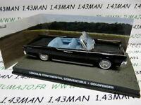 JB132E 1/43 IXO 007 JAMES BOND Angleterre  LINCOLN Continental Convertible Goldf