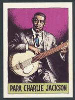 Papa Charlie Jackson 1980 Heroes of the Blues card #25