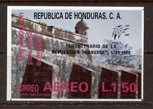 HONDURAS 1989, FRENCH REVOLUTION BICENTENNIAL, Scott C782 SOUVENIR SHEET, MNH