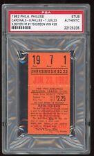 Bob Gibson Win #28 1962 6/23/62 Phillies Cardinals Ticket Stub PSA 5,893 Fans