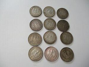 DEUTSCHES REICH 12 Silbermünzen 5 Reichsmark 1934+1935