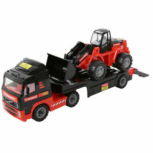 MAMMOET 2 in 1 LKW-Tieflader mit Radlader VOLVO Kinderspielzeug Fahrzeug 56733