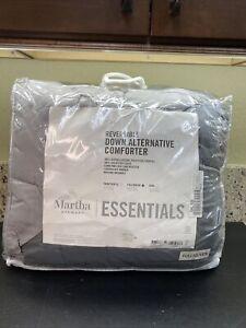Martha Stewart Essentials Reversible Down Alternative Comforter Full/Queen Gray