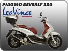 TERMINALE DI SCARICO LEOVINCE NERO INOX FONDELLO CARBONIO PIAGGIO BEVERLY 350
