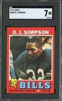 1971 TOPPS #260 O.J. SIMPSON SGC 7 BILLS HOF  *K3791