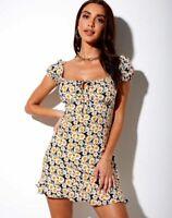 MOTEL ROCKS Galaca Mini Dress in Delightful Daisy  (mr15)