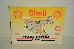 Spec Cast 0856 Shell Vintage Airplane Bank