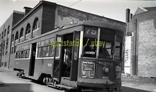 1946 PTC Philadelphia Transportation Car #8484 Route 75 - Vtg Railroad Negative