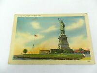 Vintage Postcard Statue Of Liberty, New York City NY Linen