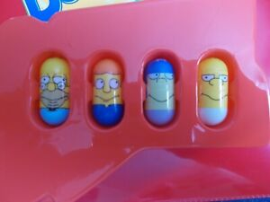 Mighty Beanz The Simpsons 4 Bean Lot #35 Grampa, #10 Rod Flanders & 2 More!