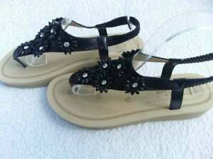 Sandalen, Gr: 38, 41, Sandaletten, schwarz, NEU
