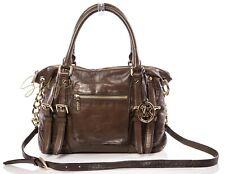 65d6ed8f2d8276 Michael Kors Olive Green MCGRAW Leather Satchel Shoulder Crossbody Bag