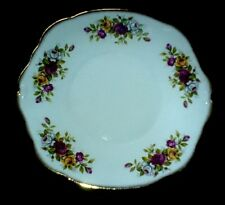 DUCHESS English Garden Red/ White/Yellow Roses/Gold 885 Cake Plate 9 1/2 inch
