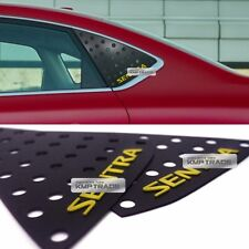 C Pillar Window Glass Sports Plate Molding Yellow Logo For NISSAN 2013-16 Sentra