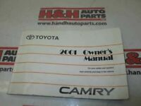 CAMRY     2001 Owners Manual 329210