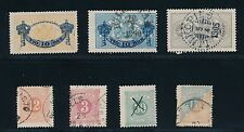 1874 - 1889 Sweden Early Issues (7); Officials & Postage Dues; Cv $130