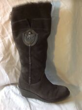 Marco Tozzi Brown Knee High Suede Boots Size 38