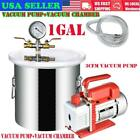 1 Gallon Vacuum Chamber and 3 CFM Single Stage Pump Degassing Silicone Kit