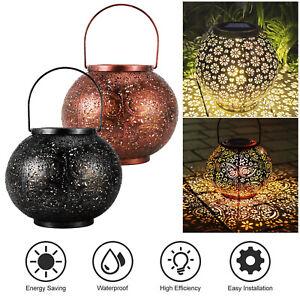 Solar Powered LED Lights Lantern Hanging Outdoor Garden Lamp Morrocan Decor Yard