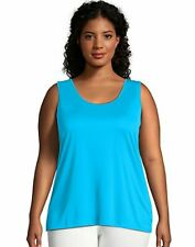 Just My Size Tank Top Women Scoop Neck Plus Size Cool DRI Performance Sleeveless