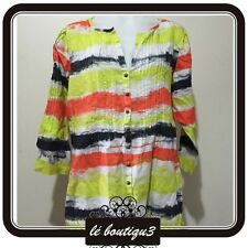 MARCO POLO Painted Stripe Print Shirt RRP $119.00 Size 12 (T 25)