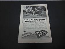 1946 Massey-Harris Tractor Co. Racine WI Print Ad Farm Equipment Forage Clipper