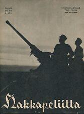Finland Wartime Magazine Hakkapeliitta 1942 #42 - WWII Finnish Anti Aircraft Gun