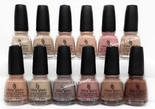 China Glaze Nl - Shades Of Nudes 2017 Full collection 12color(1539-1550) On Sale