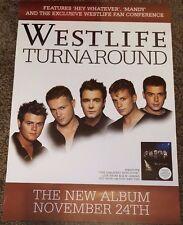 WESTLIFE - Turnaround - Album Promotional Poster *RARE*
