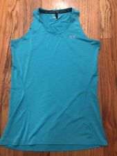 Under Armour Heat Gear Sleeveless Top Size Small Turquoise