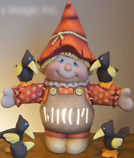 """Ceramic Bisque Ready to Paint """"Jack the Scarecrow and 2 crows"""" electric included"""